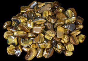 Tumbled Tiger's Eye - 1 LB (About 24 Pieces)