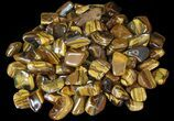 "1"" - 1.4"" Tumbled Tiger's Eye - 1 Piece - Photo 2"