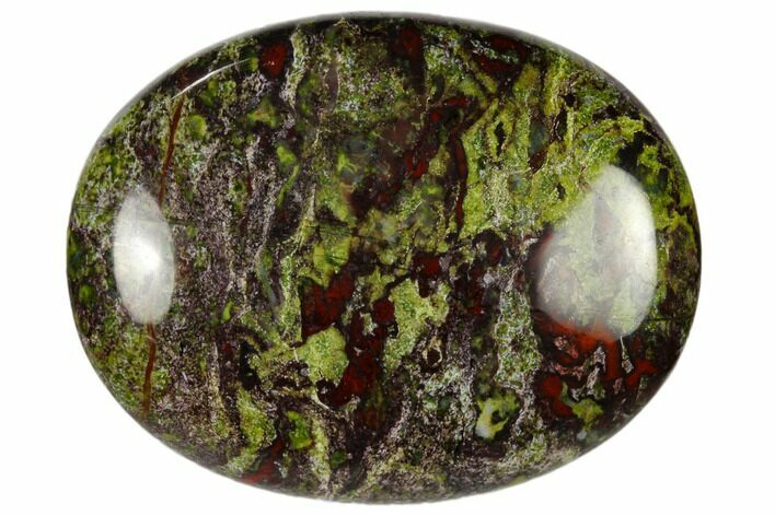 "1.8"" Polished Dragon's Blood Jasper Pocket Stone  - Photo 1"