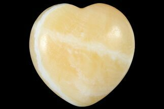 "1.6"" Polished Orange Calcite Heart"