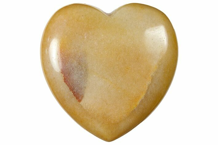 "1.6"" Polished ""Moonstone"" Heart - Photo 1"