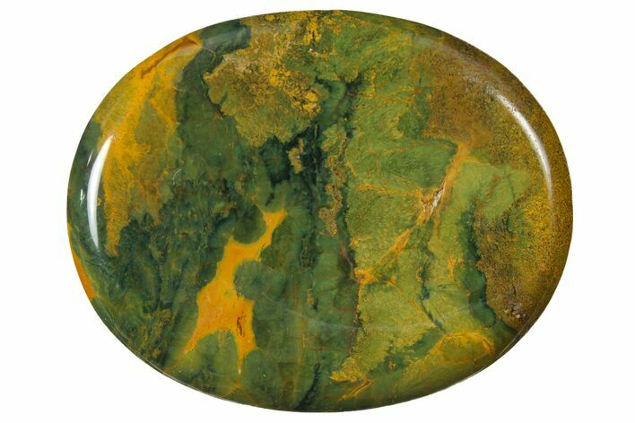 "1.9"" Polished Ocean Jasper Worry Stone  - Photo 1"