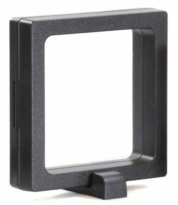 "3.5"" (Medium) Floating Frame Display Case - Stands Included - Photo 1"
