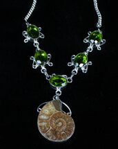 Fossil Ammonite Necklace For Sale, #3368