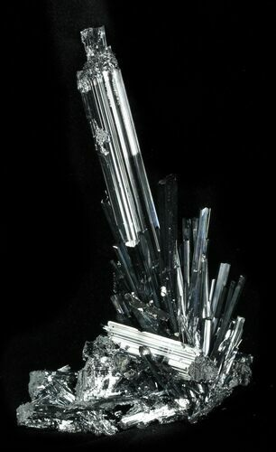 "Delicate 3.71"" Metallic Stibnite Crystal Cluster - China"