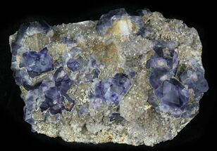 "5.6"" Purple Fluorite On Quartz - Fujian Province, China For Sale, #31586"