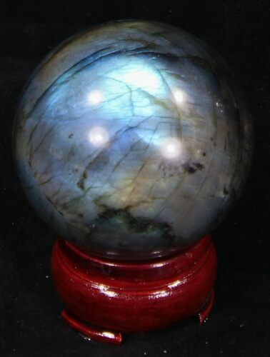 "2.21"" Flashy Labradorite Sphere - Great Color Play"