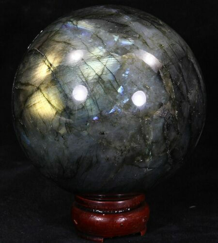 "3.83"" Flashy Labradorite Sphere - Great Color Play"