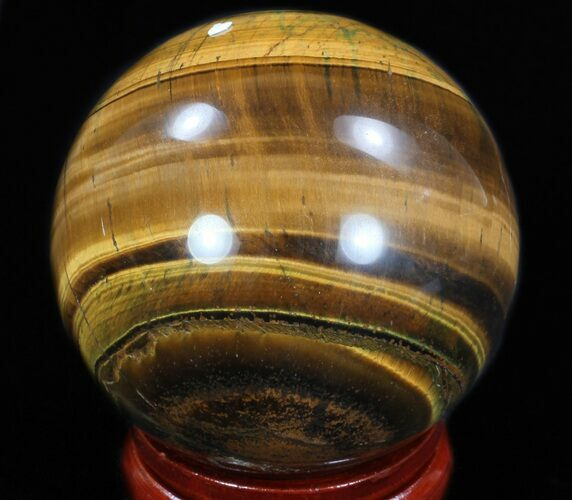 "Top Quality 2.9"" Polished Tiger's Eye Sphere"