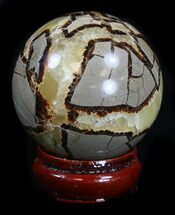 "2.75"" Polished Septarian Sphere  For Sale, #36056"