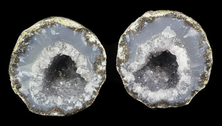 "3"" Las Choyas Geode With Quartz & Blue Chalcedony"