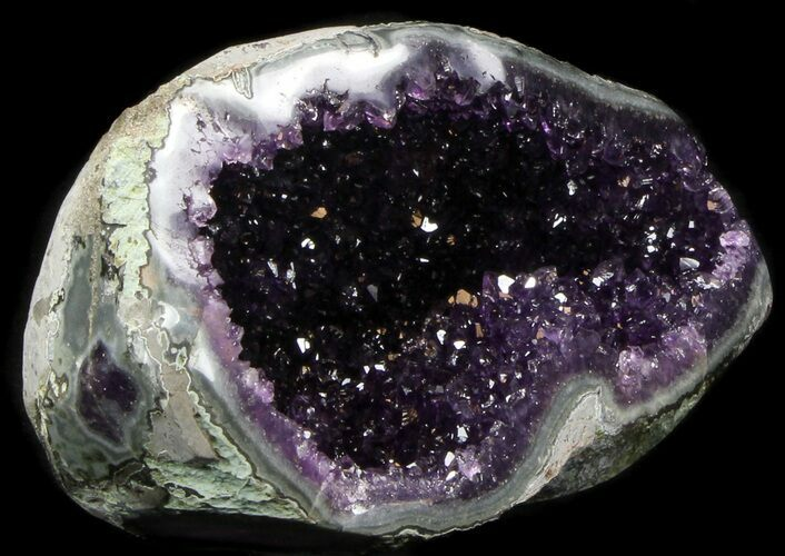 "8"" Dark Amethyst Crystal Geode - Top Quality"
