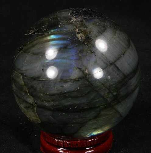 "2.43"" Flashy Labradorite Sphere - Great Color Play"