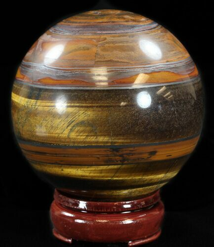 "3.6"" Polished Tiger's Eye Sphere"