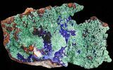 "6.0"" Malachite with Azurite On Quartz - Morocco - #38583-5"