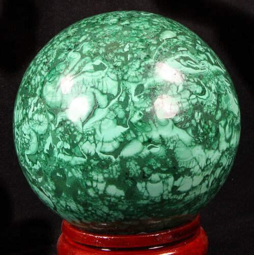 "Gorgeous 3.2"" Polished Malachite Sphere - Congo"