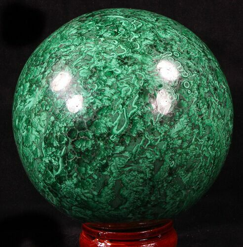 "Large 4.65"" Polished Malachite Sphere - Congo"