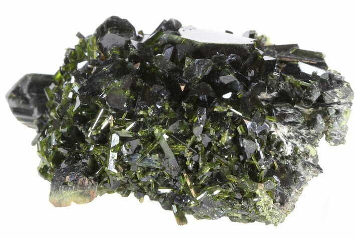 "Lustrous 1.9"" Epidote Crystal Cluster - Pakistan"