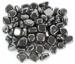 Bulk Polished Hematite (Iron Ore) - 8oz. (~ 12pc.) For Sale, #41834