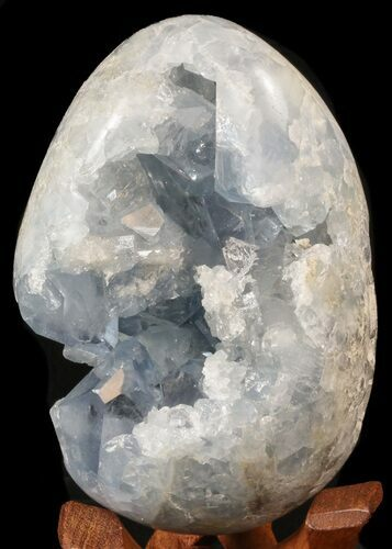 "5.1"" Crystal Filled Celestine (Celestite) ""Egg"" - Blue Crystal Geode"