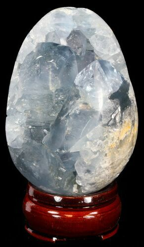 "3.25"" Crystal Filled Celestine (Celestite) ""Egg"" - Madagascar"