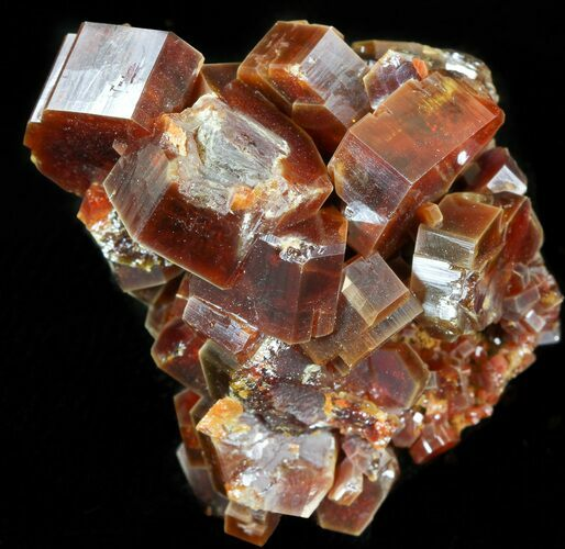 "1.6"" Large Red Vanadinite Crystals on Matrix - Morocco"