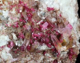 "Buy Gemmy 2.9"" Roselite and Calcite Crystals on Matrix - Morocco - #44764"