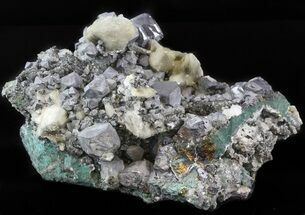"Buy 7.1"" Galena, Chalcopyrite, Barite and Quartz - Morocco - #45085"
