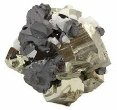 Pyrite, Sphalerite & Quartz - Fossils For Sale - #46092