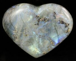 "3.1"" Flashy Polished Labradorite Heart For Sale, #47264"