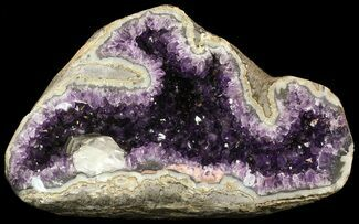 "Buy 14.5"" Deep Purple Amethyst Geode with Calcite - Top Quality - #50065"