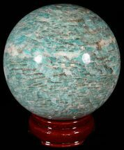 "3.8"" Polished Amazonite Crystal Sphere - Madagascar For Sale, #51629"