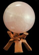 "Buy 5.9"" Polished Rose Quartz Sphere - Madagascar - #55087"