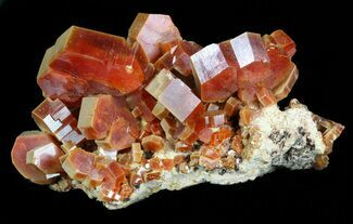 "1.8"" Large, Ruby Red Vanadinite Crystals - Morocco For Sale, #57143"