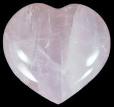 "2.7"" Polished Rose Quartz Heart - Madagascar For Sale, #59093"