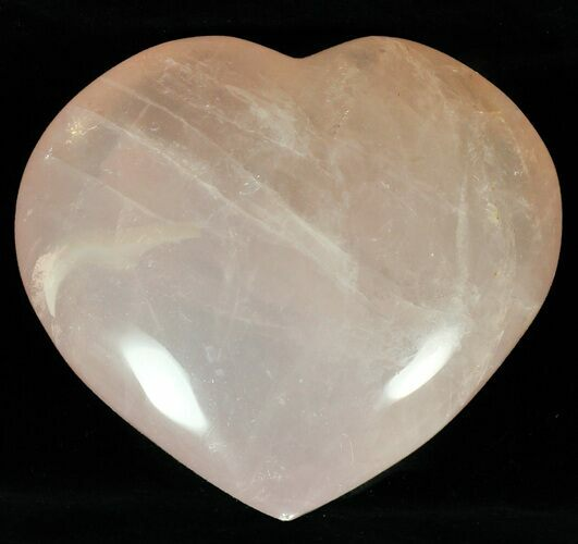 "3.9"" Polished Rose Quartz Heart - Madagascar"