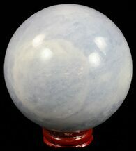 "3.4"" Polished Blue Calcite Sphere - Madagascar For Sale, #59690"