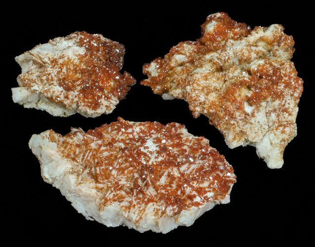 Wholesale Lot: Quality Vanadinite Crystals on Barite - 17 Pieces