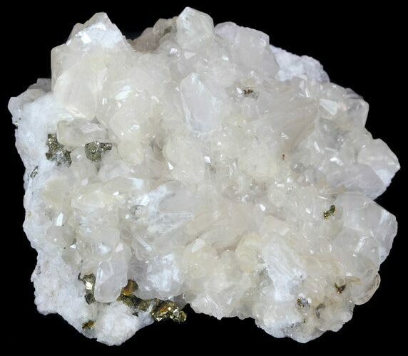 "3"" Calcite and Pyrite Crystal Association - Morocco"