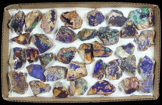 Sparkling, Drusy Azurite & Malachite Wholesale Lot - 34 Pieces For Sale, #61607