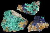 Sparkling, Drusy Azurite & Malachite Wholesale Lot -35 Pieces - #61609-1