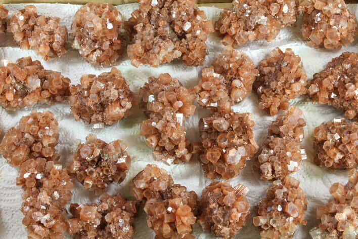 Natural Aragonite Clusters Wholesale Lot - 26 Pieces