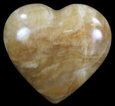 "Buy 2.8"" Polished, Brown Calcite Heart - Madagascar - #62536"