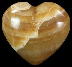 "Buy 3"" Polished, Brown Calcite Heart - Madagascar - #62542"