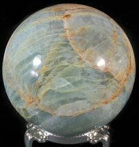 "3"" Polished Blue Calcite Sphere - Argentina For Sale, #63260"
