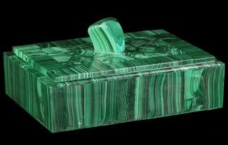"Buy 6.8"" Wide Malachite Jewelry Box - Congo - #64732"