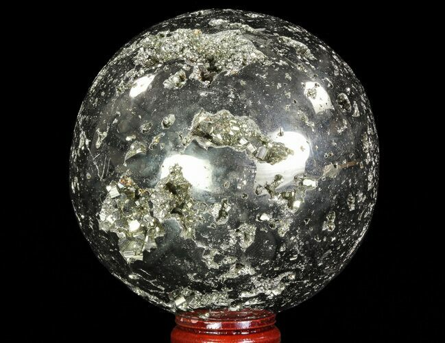 "3.25"" Polished Pyrite Sphere - Peru"