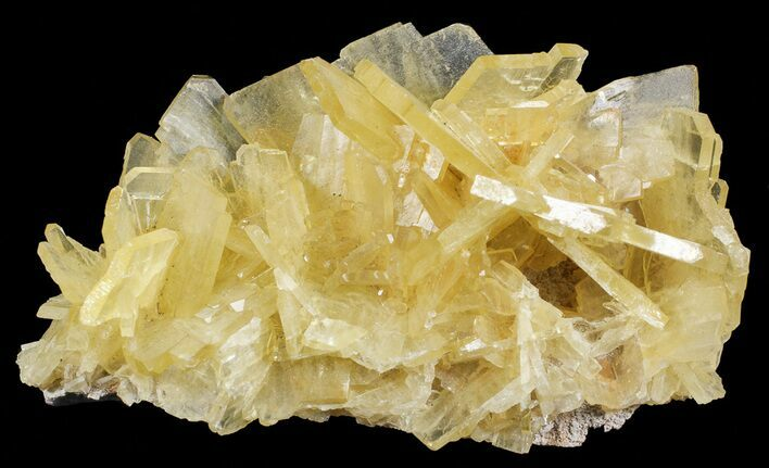 "2.7"" Yellow Barite Crystal Cluster - Peru"