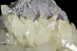 "Buy 5.1"" Calcite On Quartz & Sphalerite - Elmwood Mine - #66313"