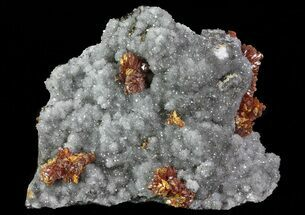 "Phenomenal 4"" Realgar, Quartz & Pyrite Association - Peru For Sale, #66506"
